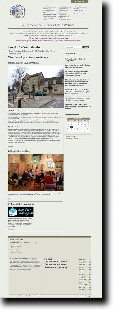 Fulbrook Parish website