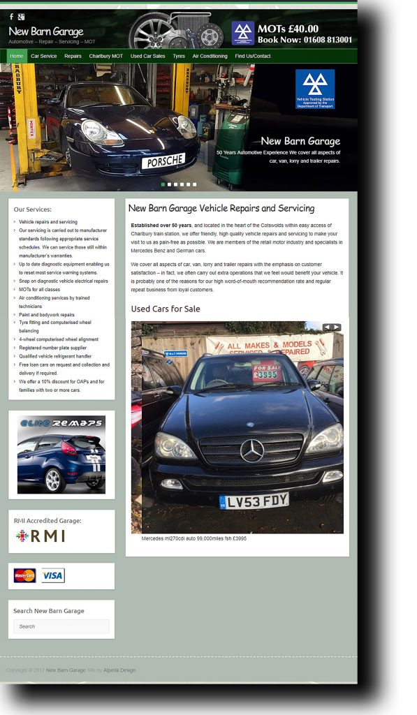 New Barn Garage Website