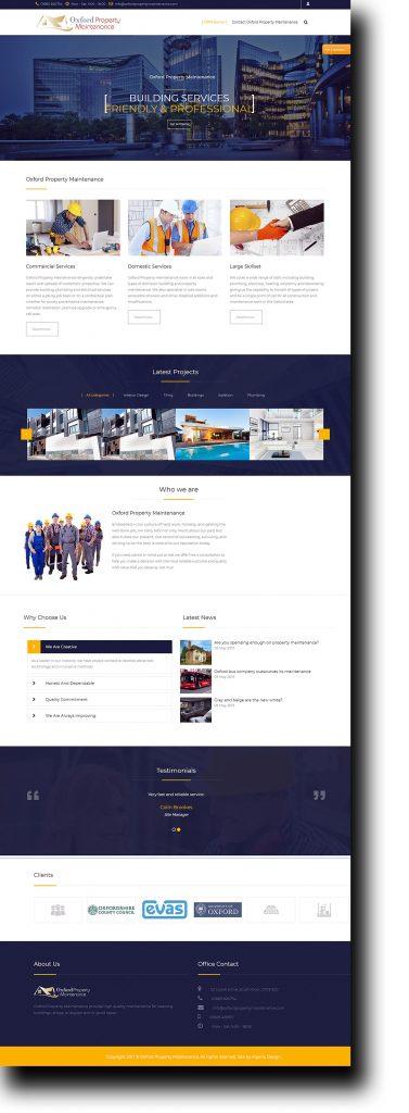 Oxford Property Maintenance Website