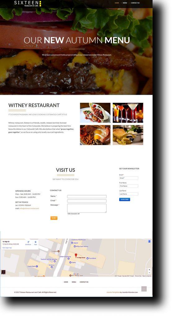 Sixteen Witney Restaurant Website