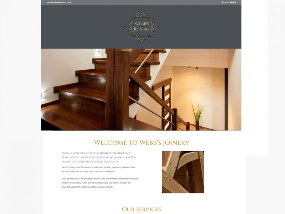 Webb's Joinery Website